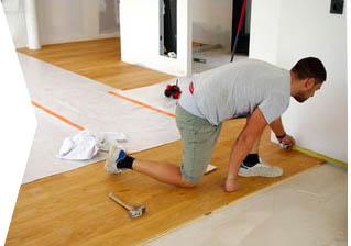 lay floor boards