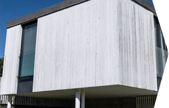 weatherboard or timber clad